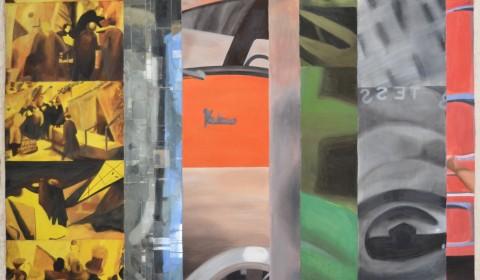 Fresque cinéma peinture sur verre