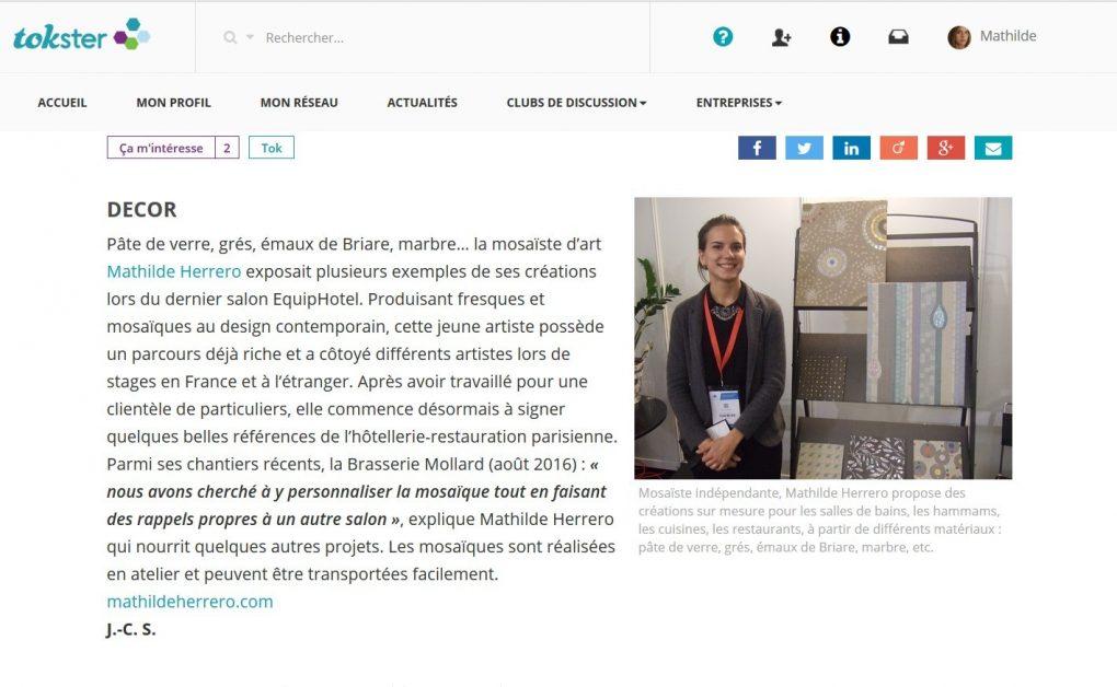 Mathilde Herrero Mosaïque ZePro News