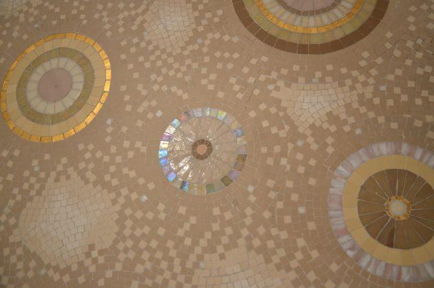 Mosaïque cuisine pate de verre marbre Mathilde Herrero