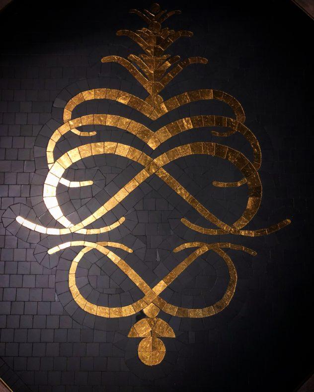 Mosaïque logo restaurant art déco paris Mathilde Herrero 2