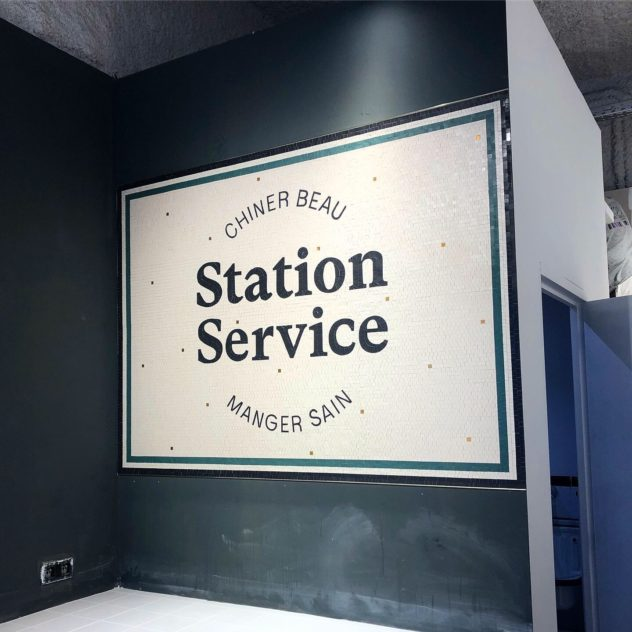 Mosaïque Station service Rouen Mathilde Herrero